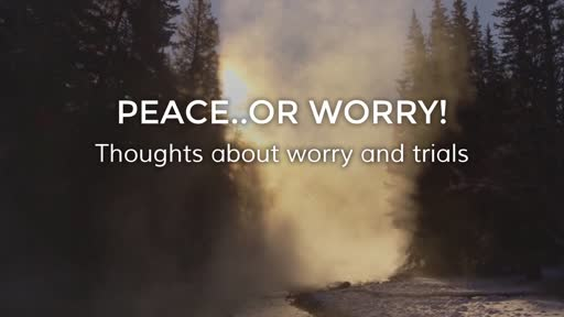 Peace..or worry!