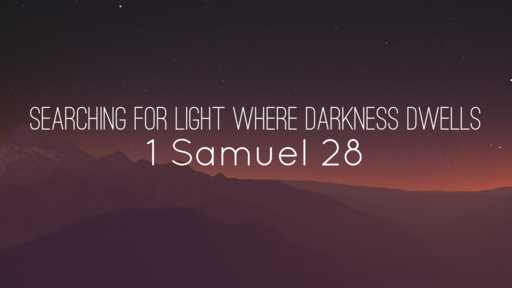 Searching for Light Where Darkness Dwells