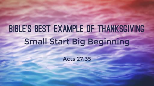 Bible's Best Example of Thanksgiving