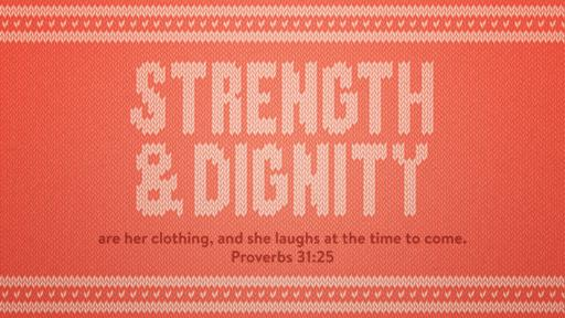 Proverbs 31:25 verse of the day image