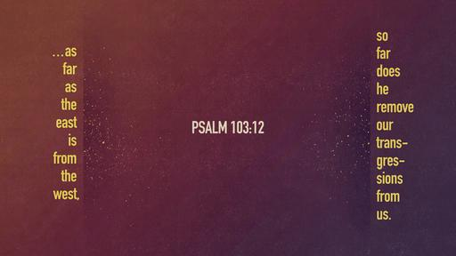 Psalm 103:12 verse of the day image