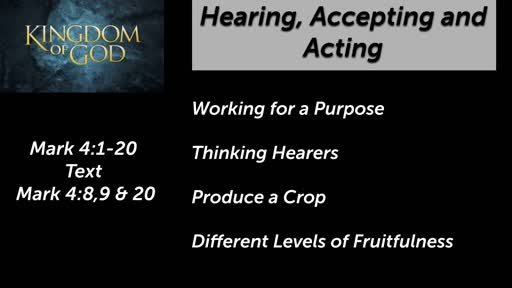 Hearing, Accepting and Acting