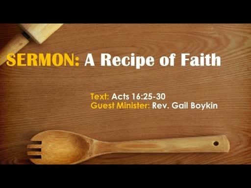 2019-03-31 A Recipe For Faith