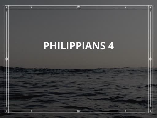 Philippians 4:1-7