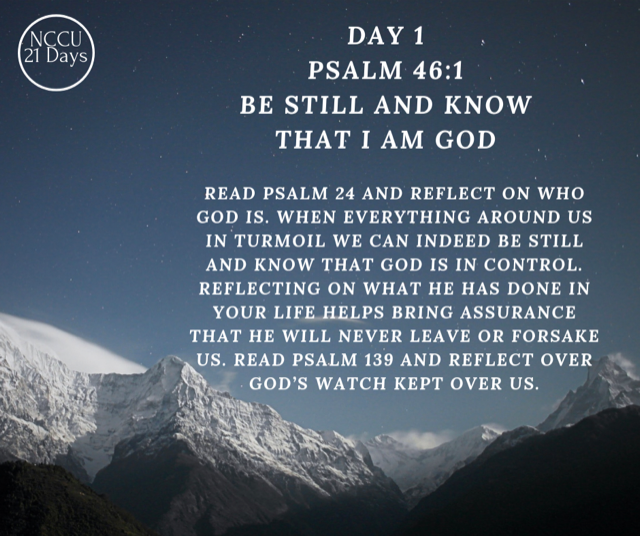 Day 1 Of Prayer