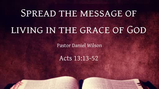 Spread the message of living in the grace of God