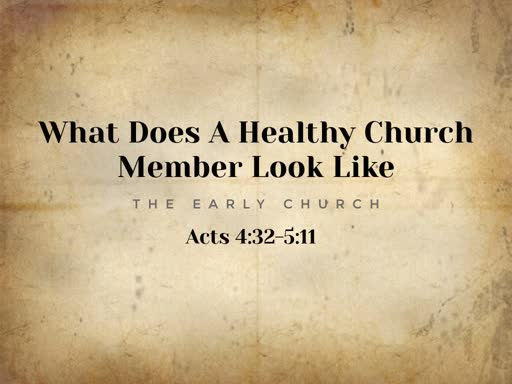 What Does A Healthy Church Member Look Like
