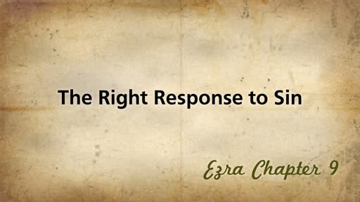 The Right Response to Sin