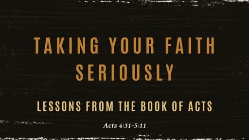 Taking your faith seriously