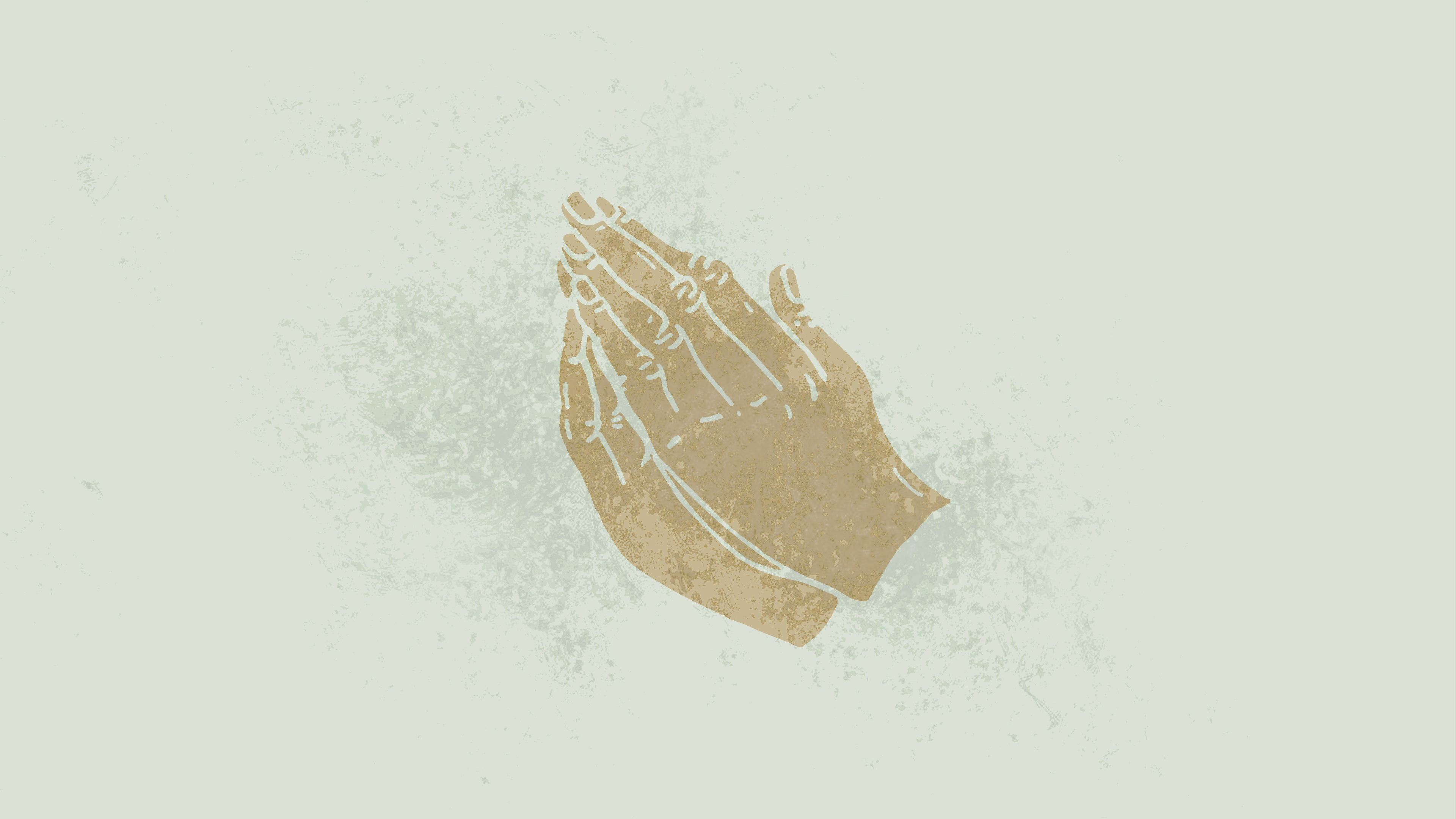 Hands of Glory. Prayer.