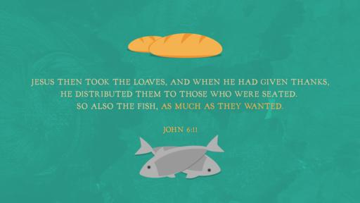 John 6:11 verse of the day image