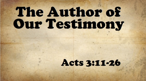 2/24/2019 - The Author of Our Testimony