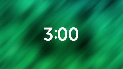 Abstract Green Black - Countdown 3 min