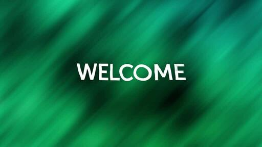 Abstract Green Black - Welcome