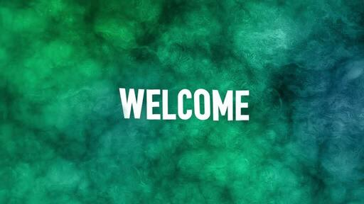 Abstract Green Blue - Welcome