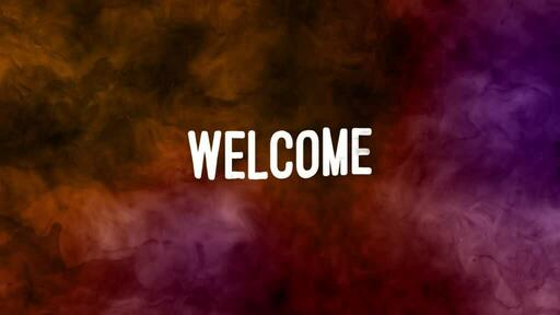 Abstract Orange Pink - Welcome