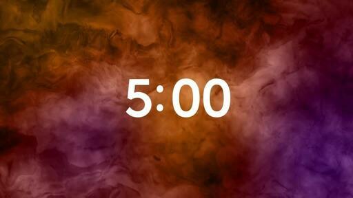 Abstract Orange Pink - Countdown 5 min
