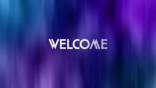 Abstract Blue Purple - Welcome