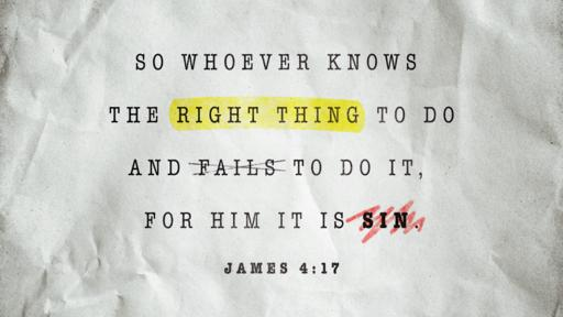 James 4:17 verse of the day image