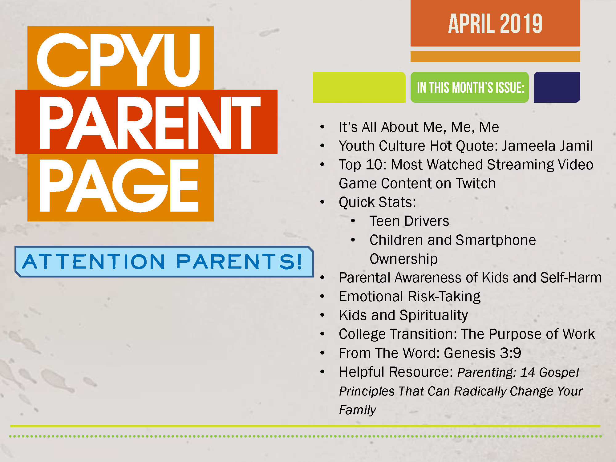 CPYU Parent Page April-2019