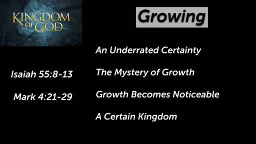 Kingdom of God - Growing