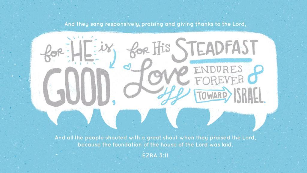 Ezra 3:11 large preview