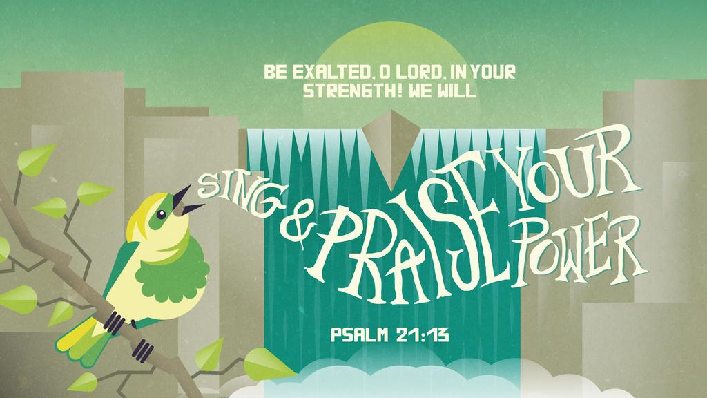 Psalm 21:13 large preview