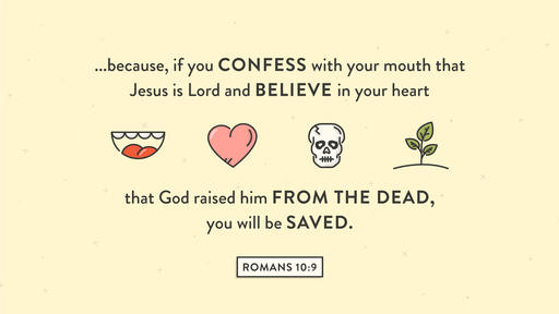 Romans 10:9 verse of the day image