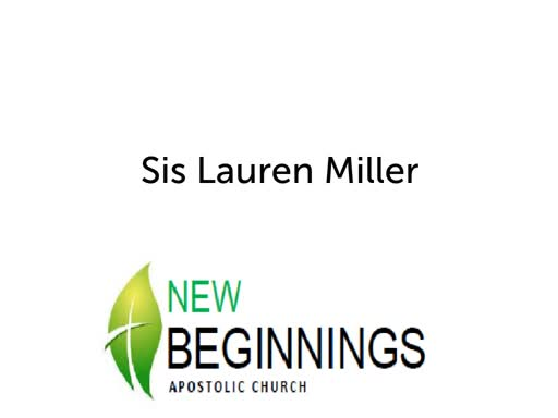 Sunday 04/07 Ladies of New Beginnings Testimony
