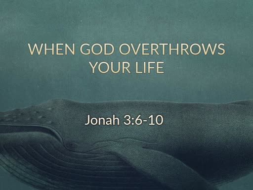 Jonah: Swallowed by God's Grace