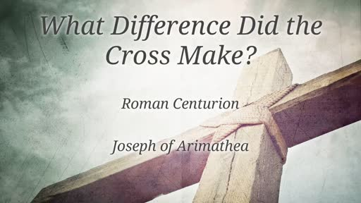 What Difference Did the Cross Make?