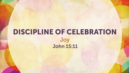 Discipline of Celebration