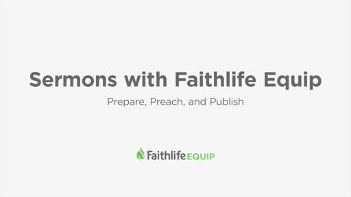 Sermons with Faithlife Equip