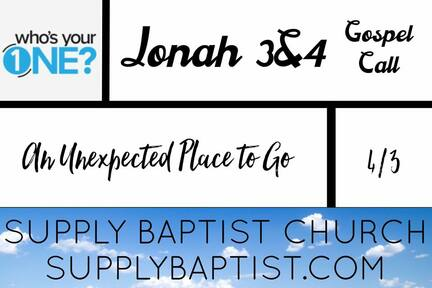 Jonah 3&4 Gospel Call