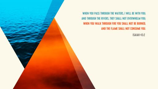 Isaiah 43:2 verse of the day image