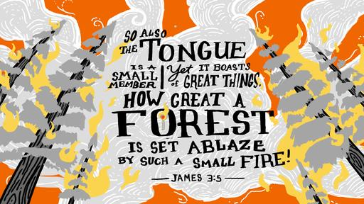 James 3:5 verse of the day image