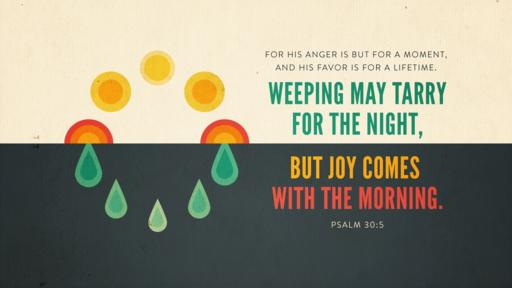 Psalm 30:5 verse of the day image