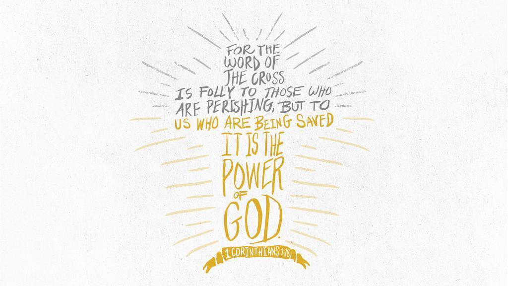 1 Corinthians 1:18 large preview