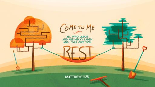 Matthew 11:28–30 verse of the day image