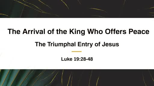 The Arrival of the King Who Offers Peace