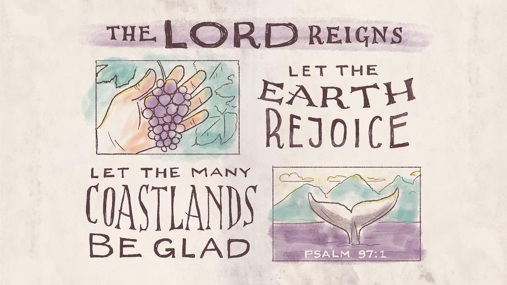 Psalm 97:1 large preview