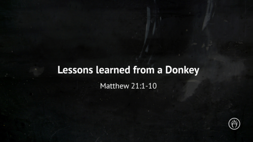 Lessons From A Donkey (Matthew 21:1-10)