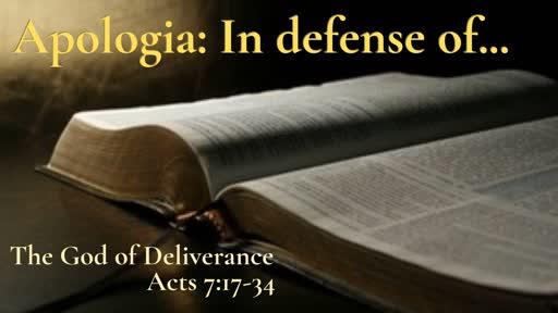 Sunday April 14: Apologia Series Sermon I: The God of Glory Acts 7:1-16