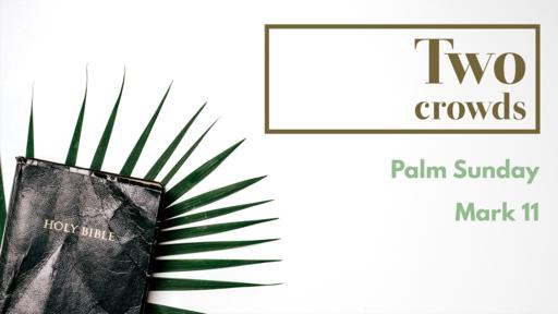 Two crowds -- Palm Sunday