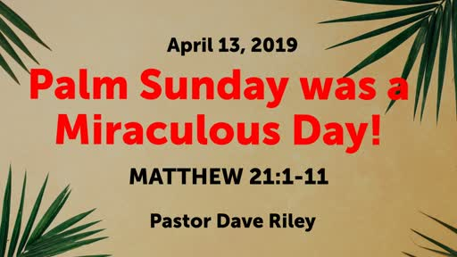 Palm Sunday was a Miraculous Day!