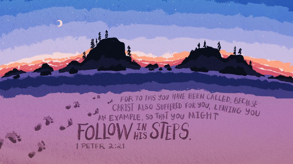 1 Peter 2:21 large preview