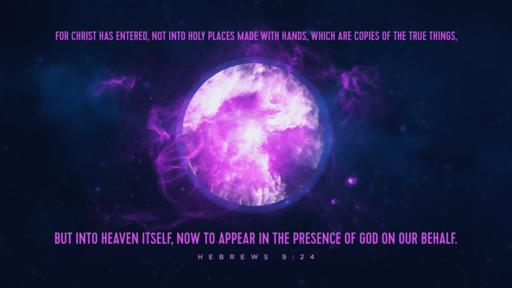 Hebrews 9:24 verse of the day image