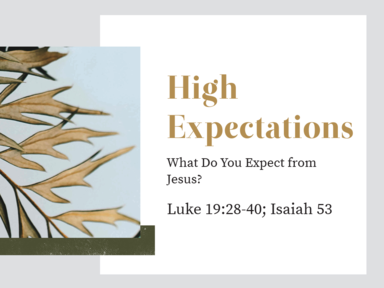High Expectations - What Do You Expect from Jesus?