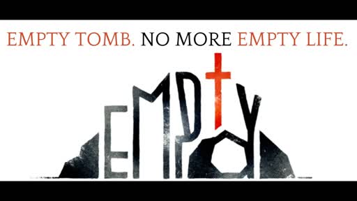 Empty tomb, but He is here