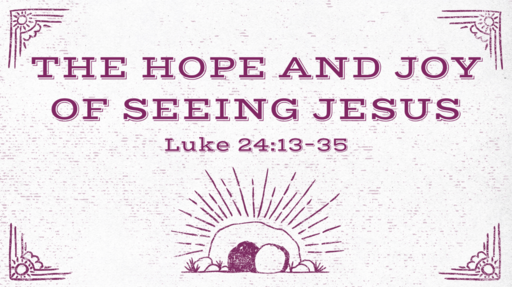 The Hope and Joy of Seeing Jesus